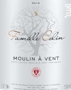 Moulin-à-vent - Famille Colin - 2014 - Rouge