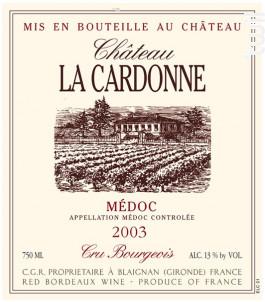 Château la Cardonne - Château la Cardonne - 2000 - Rouge