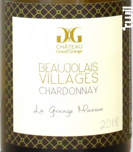 La Grange Masson - Château Grand'Grange - 2018 - Blanc