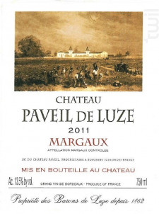 Château paveil de luze - Château Paveil de Luze - 2011 - Rouge