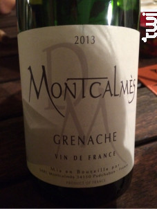 Domaine de Montcalmès Grenache - Domaine de Montcalmès - 2015 - Rouge