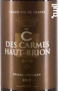 C des Carmes - Château Les Carmes Haut-Brion - 2013 - Rouge