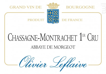 Chassagne-Montrachet Premier Cru Abbaye de Morgeot - Maison Olivier Leflaive - 2014 - Blanc