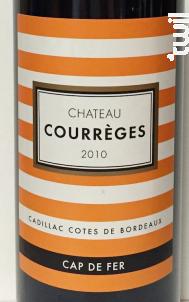 Cap de Fer Cadillac Côtes de Bordeaux - Château Courrèges - 2012 - Rouge