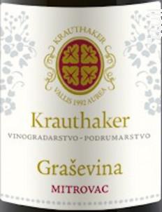 Grasevina Mitrovac - Domaine Krauthaker - 2016 - Blanc