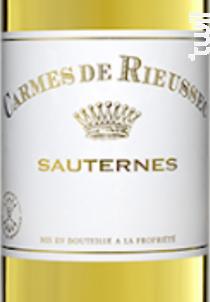 Carmes de Rieussec - Domaines Barons de Rothschild - Château Rieussec - 2015 - Blanc