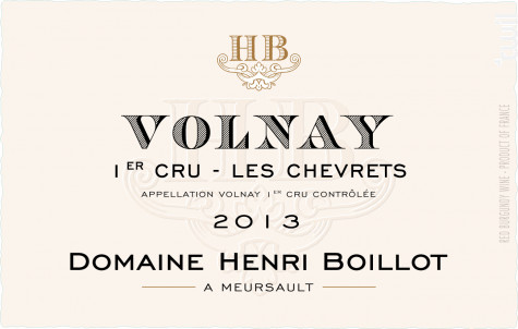 Volnay Premier Cru Les Chevrets - Maison Henri Boillot - 2013 - Rouge