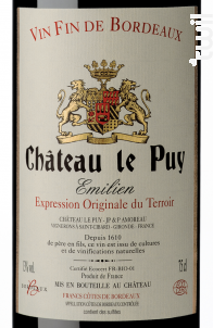 Emilien - Château Le Puy - 2017 - Rouge