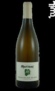 Beaujolais Blanc - Domaine des Marrans - 2019 - Blanc