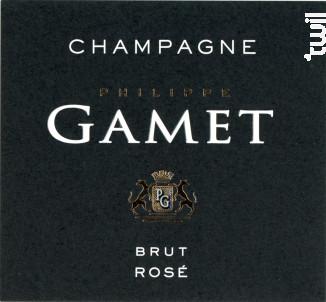 Brut Rosé - Champagne Philippe Gamet - Non millésimé - Effervescent