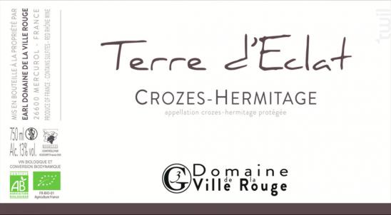 Terre d'Éclat - Domaine de la Ville Rouge - 2018 - Rouge
