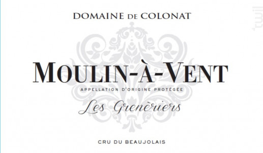 MOULIN A VENT Les Grenèriers - Domaine de Colonat - 2020 - Rouge
