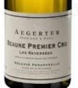 Beaune 1er Cru Les Reversées - Jean Luc et Paul Aegerter - 2015 - Blanc