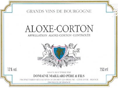 Aloxe-Corton - Domaine Maillard - 2016 - Rouge