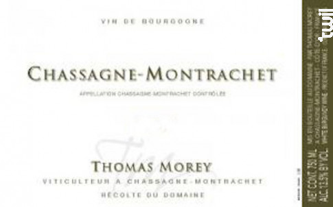 Chassagne-Montrachet - Domaine Thomas Morey - 2016 - Blanc