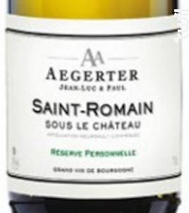 Saint Romain Sous le Château - Jean Luc et Paul Aegerter - 2016 - Blanc