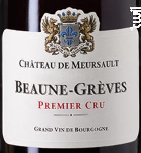 Beaune-grèves 1er Cru - Château de Meursault - 2012 - Rouge