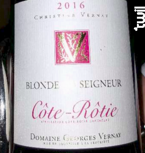 Blonde du Seigneur - Domaine Georges Vernay - 2017 - Rouge