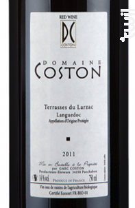 Terrasses du Larzac - Domaine Coston - 2016 - Rouge