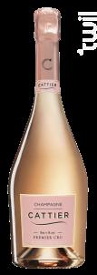 Brut Rosé Premier Cru - Champagne Cattier - Non millésimé - Effervescent