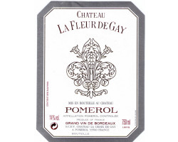 Château La Fleur de Gay - Château La Fleur de Gay - 2013 - Rouge