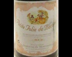 Grand Ordinaire Petite Folie De Bacchus - Domaine de Montmain - 1997 - Rouge