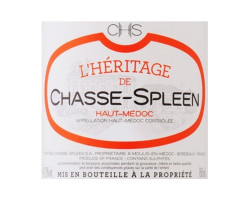 L'Héritage de Chasse-Spleen - Château Chasse-Spleen - 2018 - Rouge