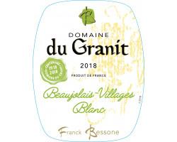 domaine du granit CHARDONNAY - Domaine du Granit - 2018 - Blanc
