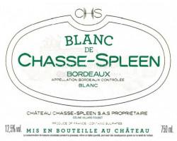 Blanc de Chasse-Spleen - Château Chasse-Spleen - 2019 - Blanc