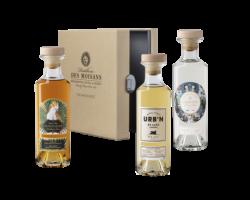 Coffret The Mixologist 3x20cl Rhum Canoubier Gin Ginetic Cognac Urb'n - Distillerie des Moisans - Non millésimé - Blanc