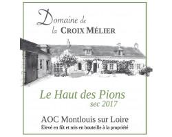 Le Haut des Pions - Domaine La Croix Mélier - 2017 - Blanc