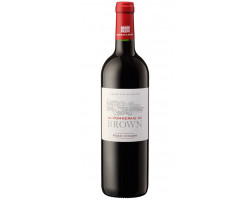 La Pommeraie de Brown - Château Brown - 2016 - Rouge