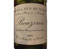 Bouzeron - Domaine de Villaine - 2012 - Rouge