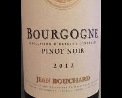 Bourgogne Pinot Noir - Jean Bouchard - 2012 - Rouge