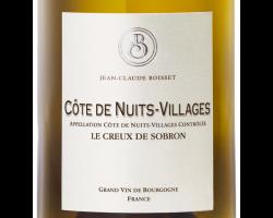 Côtes de Nuits-Villages Le Creux de Sobron - Jean-Claude Boisset - 2015 - Blanc