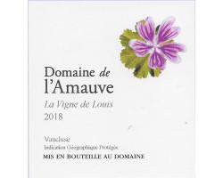 La vigne de Louis - Domaine de l'Amauve - 2019 - Rouge