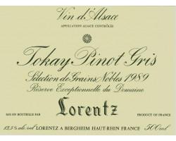 PINOT GRIS SELECTION DE GRAINS NOBLES - Gustave Lorentz - 1988 - Blanc