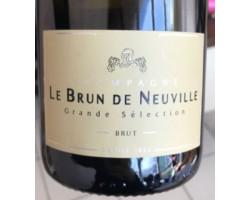 Grande Sélection - Champagne le Brun de Neuville - Non millésimé - Effervescent