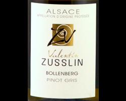Pinot Gris Bollenberg - Valentin Zusslin & fils - 2015 - Blanc