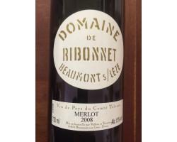 Merlot - Domaine de Ribonnet - 2008 - Rouge