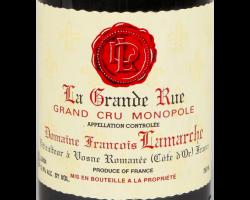 La Grande Rue Grand Cru Monopole - Domaine François Lamarche - 2011 - Rouge