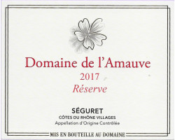 Cuvée Réserve - Domaine de l'Amauve - 2017 - Rouge