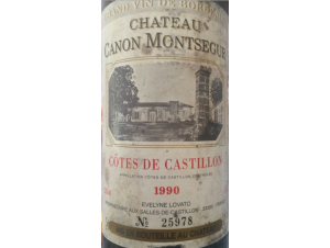 Château Canon Montségur - Château Canon Montségur - 1986 - Rouge