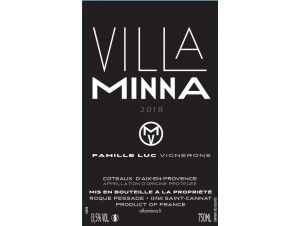 VILLA MINNA - VILLA MINNA VINEYARD - 2018 - Rouge