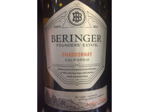 Founders' Estate Chardonnay - Beringer Vineyards - 2015 - Blanc