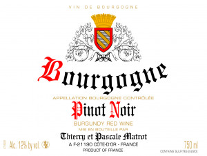 Bourgogne Pinot Noir - Domaine Thierry et Pascale Matrot - 2013 - Rouge