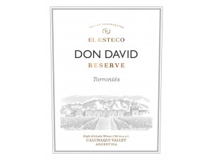 DON DAVID - TORRONTES - EL ESTECO - 2019 - Blanc