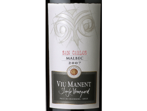 Single vineyard malbec - Viu Manent - 2016 - Rouge