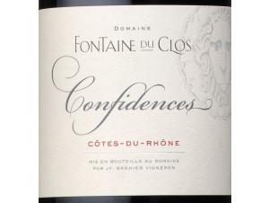 Confidences - Domaine Fontaine du clos - 2016 - Rouge