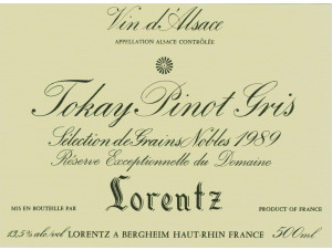 PINOT GRIS SELECTION DE GRAINS NOBLES - Gustave Lorentz - 1988 - Blanc